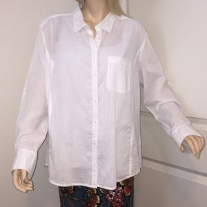 Caslon XL 100% Cotton Button Front Shirt